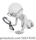 man with magnifying glass 56674565