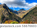 mountain autumn landscape with colorful forest 56676603