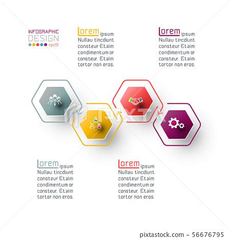 Hexagon inforgraphics on vector graphic art. 56676795