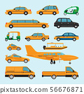 Taxi different types icons 56676871