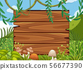 Big Wooden Board in Forest 56677390