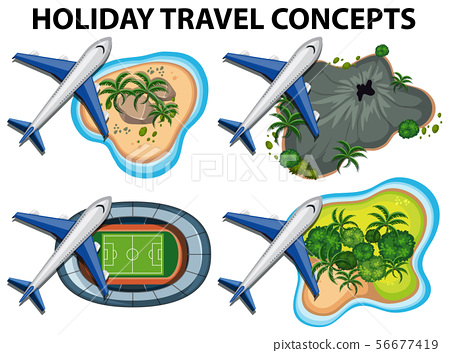 Holiday travel concepts with airplanes and 56677419