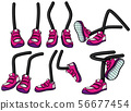 Legs with pink shoes 56677454