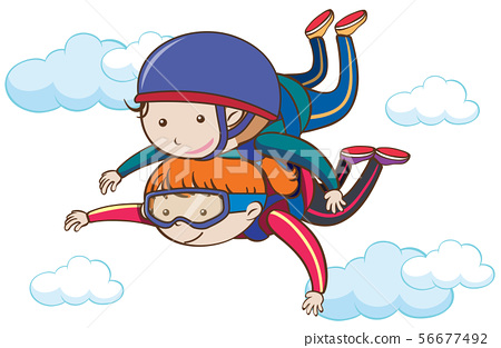 Tandem Skydiving Over the Sky 56677492