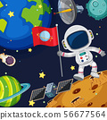 Background scene with astronaut in space 56677564