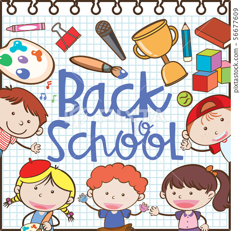Back to School Note Element 56677609