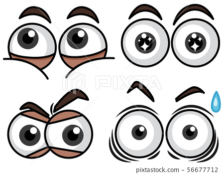 Four eyes set with different expressions 56677712