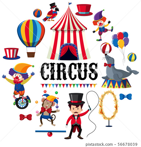 Colourful Circus Element on White Background 56678039