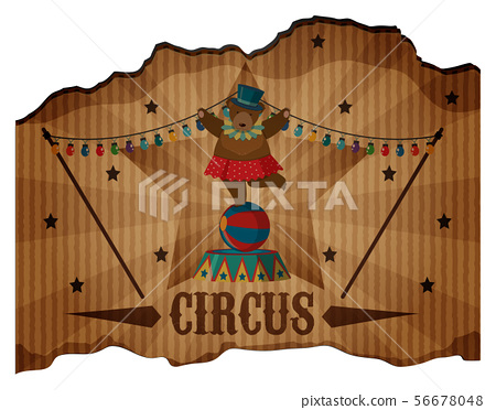 A Circus Show Leaflet on White 56678048