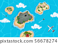 Aerial view of island and plane 56678274