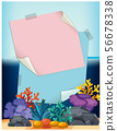 Pink Note Over Fish Tank 56678338