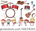 Different musical instruments and kids 56678361