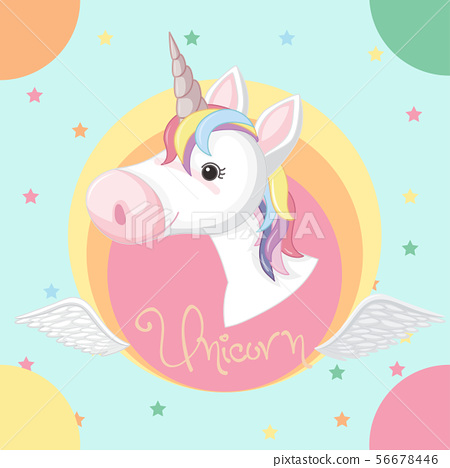 Poster design with unicorn and stars 56678446