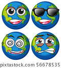 Earth with four emotions 56678535