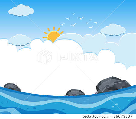 A Sunny and Cloudy Ocean View 56678537