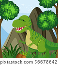 T-Rex in the forest field 56678642