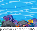 Beatiful Coral and Underwater Scene 56678653