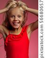 Portrait of cute little baby girl 56680657