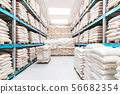 fully stored warehouse 56682354