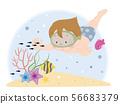有热带鱼的男孩 56683379