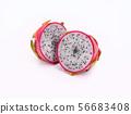 Dragon fruit isolated on white background 56683408