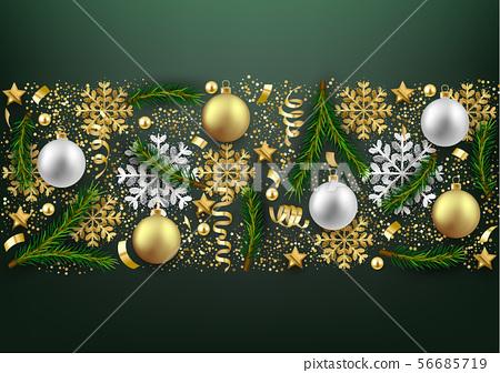 Merry Christmas Happy New Year decorative 56685719