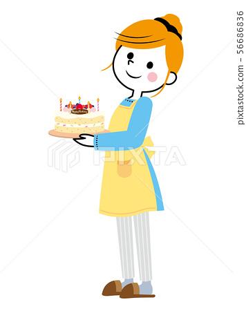 家庭主婦①生日蛋糕 56686836