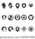 Lion logo vector template Vectors 56687090