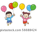 气球和儿童 56688424