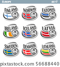 Vector logo for football flags 56688440