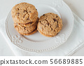 cookies Baci di Dama or Lady kisses with chocolate 56689885