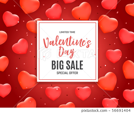 Valentine's Day Love and Feelings Sale Background 56691404