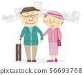 高級夫婦旅遊城市景觀 56693768