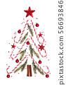 Christmas ornament on white. 56693846