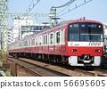 Keikyu New Type 1000 (Aluminum Car) Airport Express bound for Shinshiko 56695605