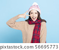 Young Beautiful Woman in winter clothes 56695773