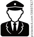 노동자 아이콘 일러스트 / 경찰관 · 경비원 · 배달원 · 파일럿 56697827