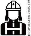 노동자 아이콘 일러스트 / 소방관 · 소방관 56697829