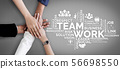 Teamwork and Business Human Resources Concept 56698550
