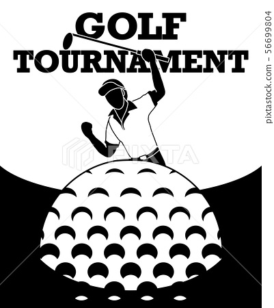 Golfers are happy to score. 56699804