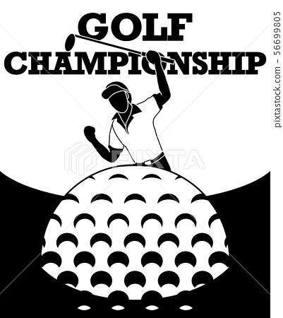 Golfers are happy to score. 56699805