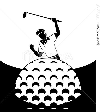 Golfers are happy to score. 56699806