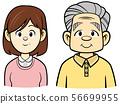 미소 짓는 노인 (선화) 56699955