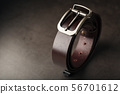 Fashionable men's brown belt made of genuine 56701612