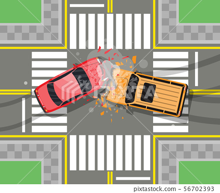 Road accident between two cars. 56702393