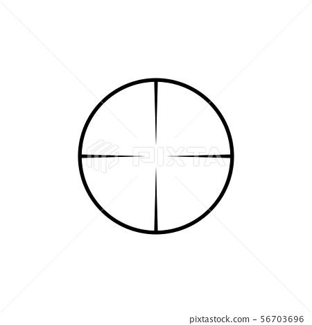 Simple collimator sight sniper scope crosshairs 56703696