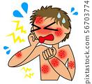 皮炎的例證 56703774