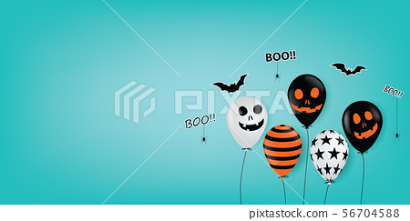 Halloween Ghost Balloons Scary air balloons. 56704588