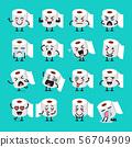 Tissue paper emoji set 56704909