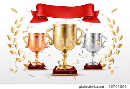 Sport competition winning places prizes vector 56705061